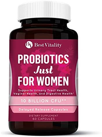Bestvitality Daily Probiotics Supplement for Women - Formulated with 10 Billion CFUs - Improve Digestion, Skin Health, Boost Immunity, Relieve Constipation & Support Vaginal Health (1)