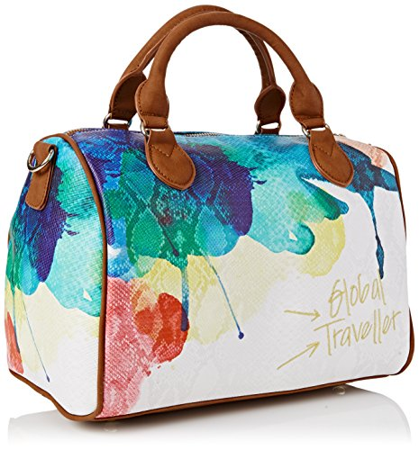 Desigual Bowling Bag white Aquarelle Womens 48OWn14r