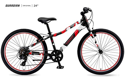 Guardian Bike Company Lightweight Kids Bike, Black/Red
