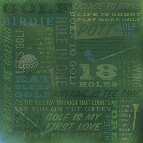 Karen Foster 64993 25 Sheets Golf Is Life Collage Scrapbooking ()