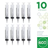 60ml Catheter Tip Syringe with Covers- 10 Syringes by Care Touch