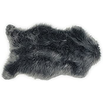faux fur area rug ikea sheepskin premium single gray white 4x6