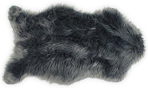 - Nouvelle Legende Faux Fur Sheepskin Premium Rug Single (23 in. X 40 in.) Gray