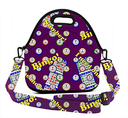 Eco-Friendly Neoprene Lunch Bag - Staroklaho Bingo - Large Insulated Lunch Sack, Soft Cooler/Hot Bag for School/Beach/Picnic/Camping/BBQ