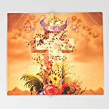Society6 Faith Hope Charity - Christian Cross Throw Blankets 88'' x 104'' Blanket