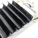 Primer Black Ellipse Flat Eyelash Extensions 0.20mm Thickness C Curl 8-14MM Mixed Trays