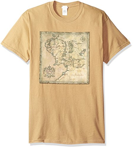 Trevco Men's the Lord of the Rings Middle Earth Map T-Shirt