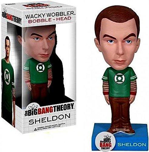 Funko Big Bang Theory Wacky Wobbler Bobble Head Sheldon Green Lantern ()