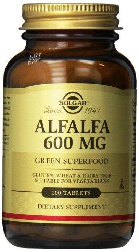 Solgar luzerne comprimés, 600 mg, 100 Count