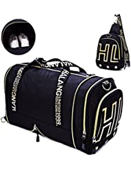 Gym Bags Weekender Bag with Shoes Compartment Carry on Travel Tote