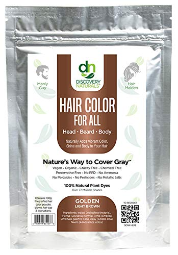 Manly Guy LIGHT BROWN Hair, Beard, & Mustache Color: 100% Natural & Chemical Free