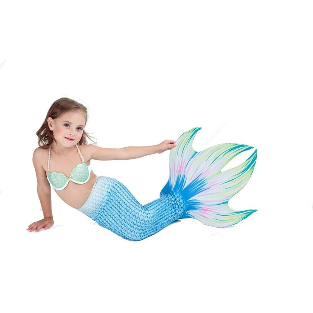 Couleur 3 135-145 (10-11 years old) MARYYUN Filles Cosplay Costume Maillots De Bain,Sirène Shell Maillot De Bain Ensembles,Enfant Filles De Sirène Maillot De Bain,Natation Maillot De Ba (MultiCouleure en Option)