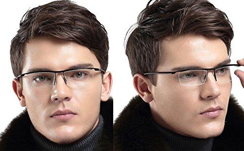 Rimless Glasses Dubai : Agstum Pure Titanium Half Rimless Business Glasses Frame ...