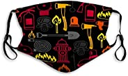 mitotai Mouth Mask Dust Face Mask Seamless Pattern Firefighting Items fire protec One Size