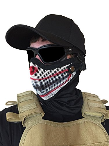 Airsoft-Mask-Steel-Mesh-Tactical-Custom-2-Strap-Support-Adjustable-for-Kids-and-Adults-CLOWN