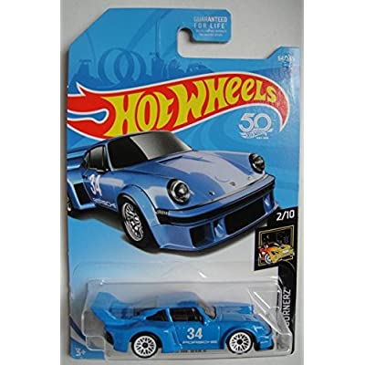 Hot Wheels 2020 50th Anniversary Nightburnerz Porsche 934.5 64/365, Blue: Toys & Games