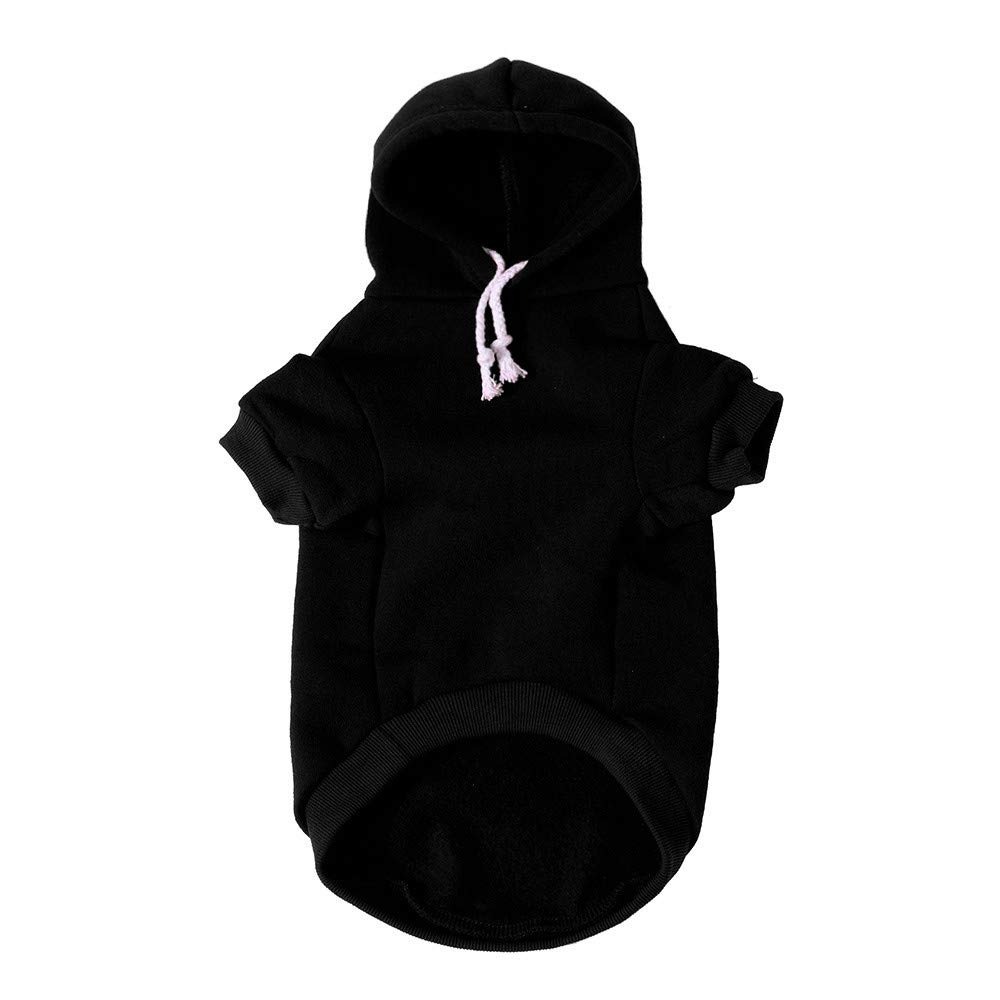 Pet Clothes Dog Pet Clothes Hoodie Warm Sweatshirts Puppy Coat Apparel Letter Print Costume Small Dogs Pet Clothes Vest T Shirt For Small Medium Dog Cat Puppy Rabbit Pig Warm Dog Outfits (Black, XS) by succeedtop (Image #5)