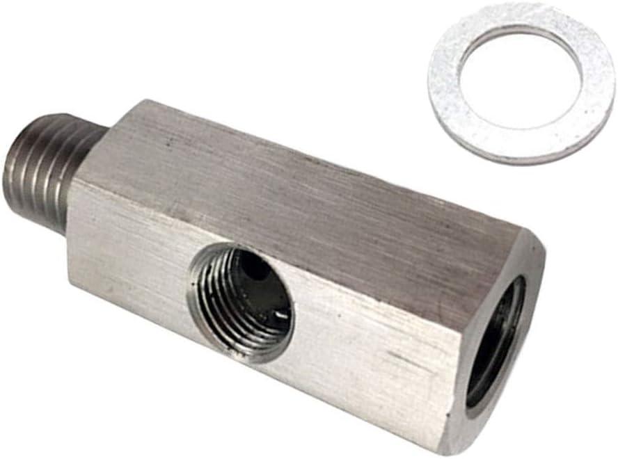 SDENSHI 1//8  NPT Male to Female 1//8 M12X1.5 Adapter Turbolader Oil Pressure Sensor