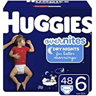 HUGGIES OverNites Diapers, Size 6, 48 ct., Overnight Diapers (Packaging May Vary)