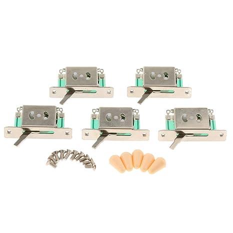 Interruptor Selector Pastillas 5 Vías Guitarra para Partes de ...