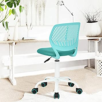Amazon.com: Turquoise Office Task Adjustable Desk Chair Mid Back Home  Children Study Chair: Kitchen U0026 Dining