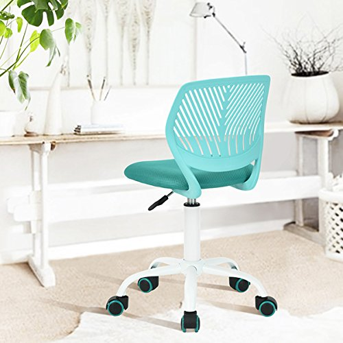 Turquoise Office Task Adjustable Desk Chair Mid Back Home Children Study Chair
