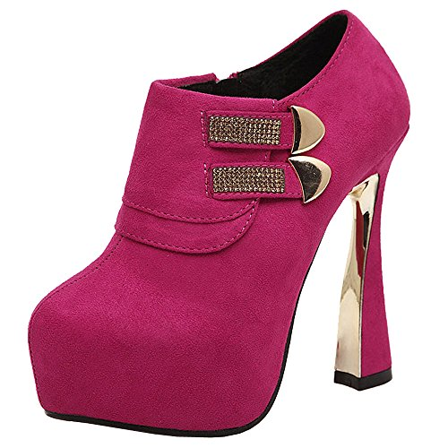 High Red Heels Women Optimal Side Ankle Zipper Boots wPx6TUq