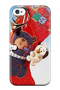 Lovers Gifts 9715383K18050671 Faddish Holiday Christmas Case Cover For Iphone 4/4s