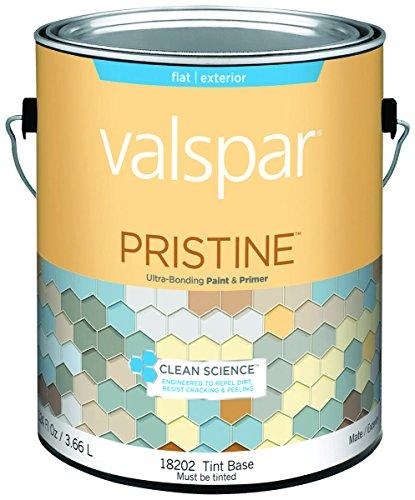 Valspar 18202 Pristine Exterior Paint/Primer Latex Tint Base Flat Gal - Case of 4