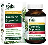 Cheap Gaia Herbs Turmeric Supreme Heart, Vegan Liquid Capsules, 60 Count – Turmeric Curcumin Supplement Promotes Heart Health, with Black Pepper, Resveratrol, Quercitin, Organic Hawthorn