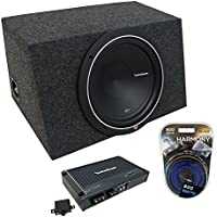 Universal Car Stereo Hatchback Sealed Single 15 Rockford Punch P1S215 Sub Box Enclosure -Final 2 Ohm & R250X1 Amp
