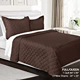quilt double bed - 3 Piece Quilt Set Full/Queen Size By Clara Clark - Luxury Bedspread Coverlet Soft All Season Microfiber - Machine Washable - Comes in Many Colors - set includes Quilt & Shams