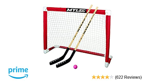 NEW Mylec Deluxe Folding Hockey Goal Set Teams Stick Street Games Kids New