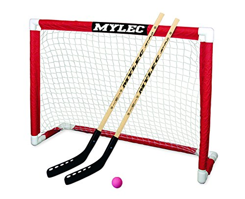 "Mylec Deluxe Hockey Goal Set , Red/White, 48"" x 37"""