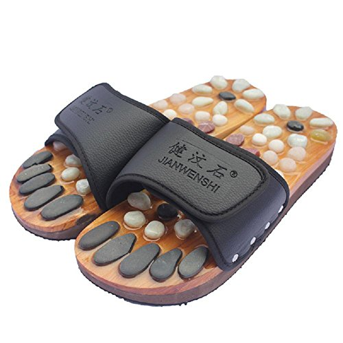 41 Cobblestone Shoes Plantar Massage Natural Foot Acupuncture Points Massage Pebble Healthcare Slippers qxPCHw5P4