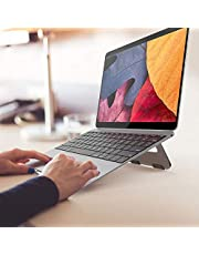 """Laptop Stand Riser For Better Ergonomics. Portable And Suitable For Most Brands MacBook, HP, Lenovo etc Fits up to 17"""" screen Silver"""