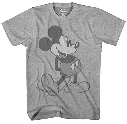 Disney Giant Mickey Mouse Disneyland World Tee Funny Humor Adult Mens Graphic T-Shirt (2XL)