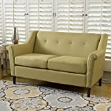 Belka Two Seat Fabric Sofa (Yellow)