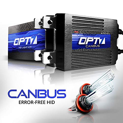 OPT7 Boltzen AC CANbus H11 H8 H9 HID Kit - 5X Brighter - 6X Longer Life - All Bulb Sizes and Colors - 2 Yr Warranty [5000K Bright White Xenon Light]