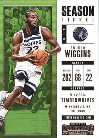 2017-18 Panini Contenders Season Ticket  95 Andrew Wiggins Minnesota  Timberwolves Basketball Card 47e0b2f32