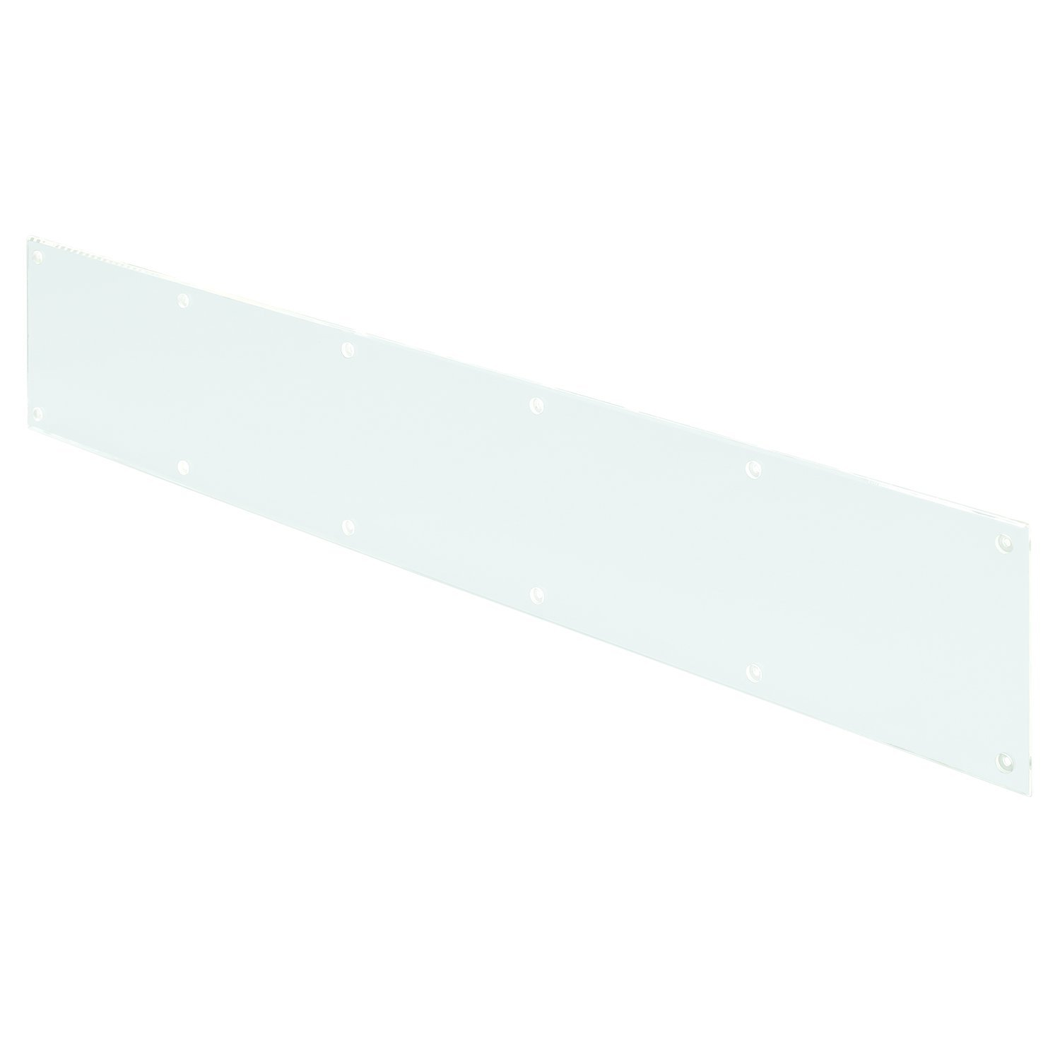 Prime-Line Products J 4925 Kick Plate, 3/16 in. x 34 in. x 6 in, Acrylic, Clear/Transparent, Smooth Finish,