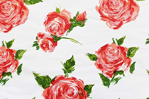 Rose Floral Gift Wrap Tissue Paper for All Occasions. Beautiful Vintage, Cottage, Farmhouse Design. Pack of 24 Large 20 x 30 Squares. ()