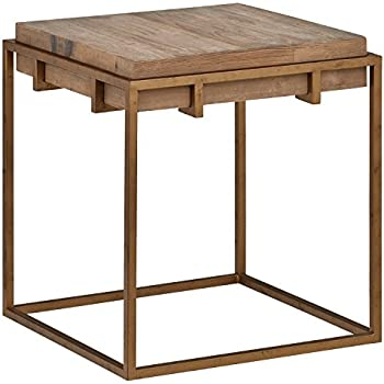 Amazon Com Stone Beam Sparrow Industrial Square Side End Table