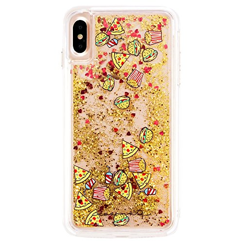 Case-Mate iPhone X Case - WATERFALL - Cascading Liquid Glitter - Protective Design - Apple iPhone 10 - Junk - Favorite Fall Foods