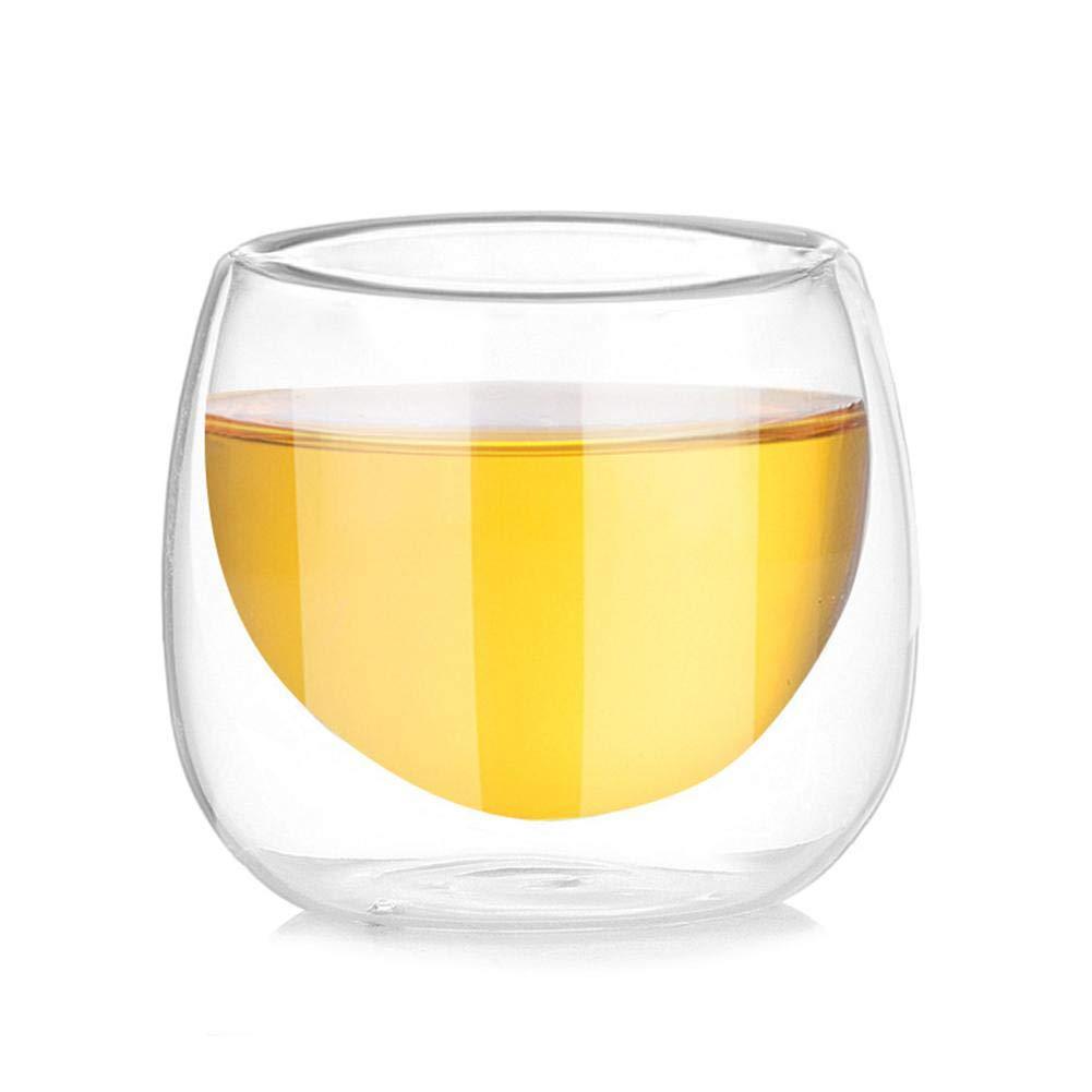 Tazas Resistentes al Calor Juego de Tazas de Vidrio t/érmico de Doble Pared para t/é caf/é Latte Suppemie Capuchino Cerveza Espresso