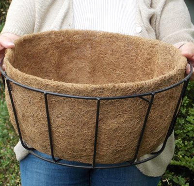 CASE/10 16'' SINGLE BASIC BASKET PLANTER LINER (NO HOLES) not include Basket Planter by KIS