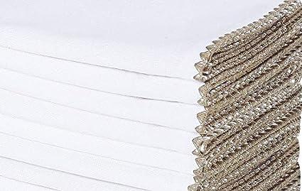 100/% Baumwolle Servietten Maschinenwaschbar Klassisch Servietten Hochzeit Blaugr/ün Weiss Baumwolle-Klinik 50x50 cm 12er-Set Stoffservietten