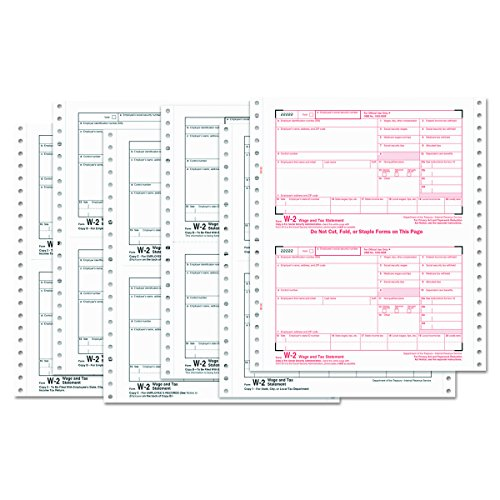 Amazon Tops 2206c W 2 Tax Forms 6 Part Carbonless 5 12 X 8