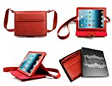 ipad 2 bear motion - Bear Motion BMIPAD3BFLSBR 100% Brazilian Buffalo Leather Shoulder Bag Case with Stand for iPad 2/iPad 3/New iPad/iPad 4 Cover (iPad 2/iPad 3/iPad 4, Red)