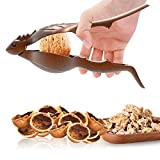 SELEWARE Innovative Universal Heavy Duty Lizard Nut Cracker, Pecan Walnut Plier Opener Tool with Non-slip Handle, Bronze